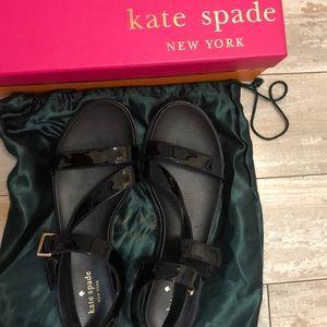 Kate Spade patent black sandals